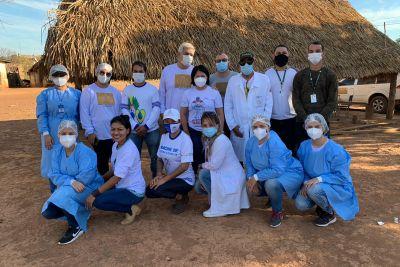 notícia: Secretaria de Estado de Saúde e UFPA promovem ação de saúde em território Kayapó